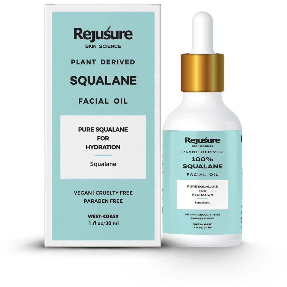 Rejusure 100% Plant Derived Pure Squalane Lightweight Face Oil  (30ml)
