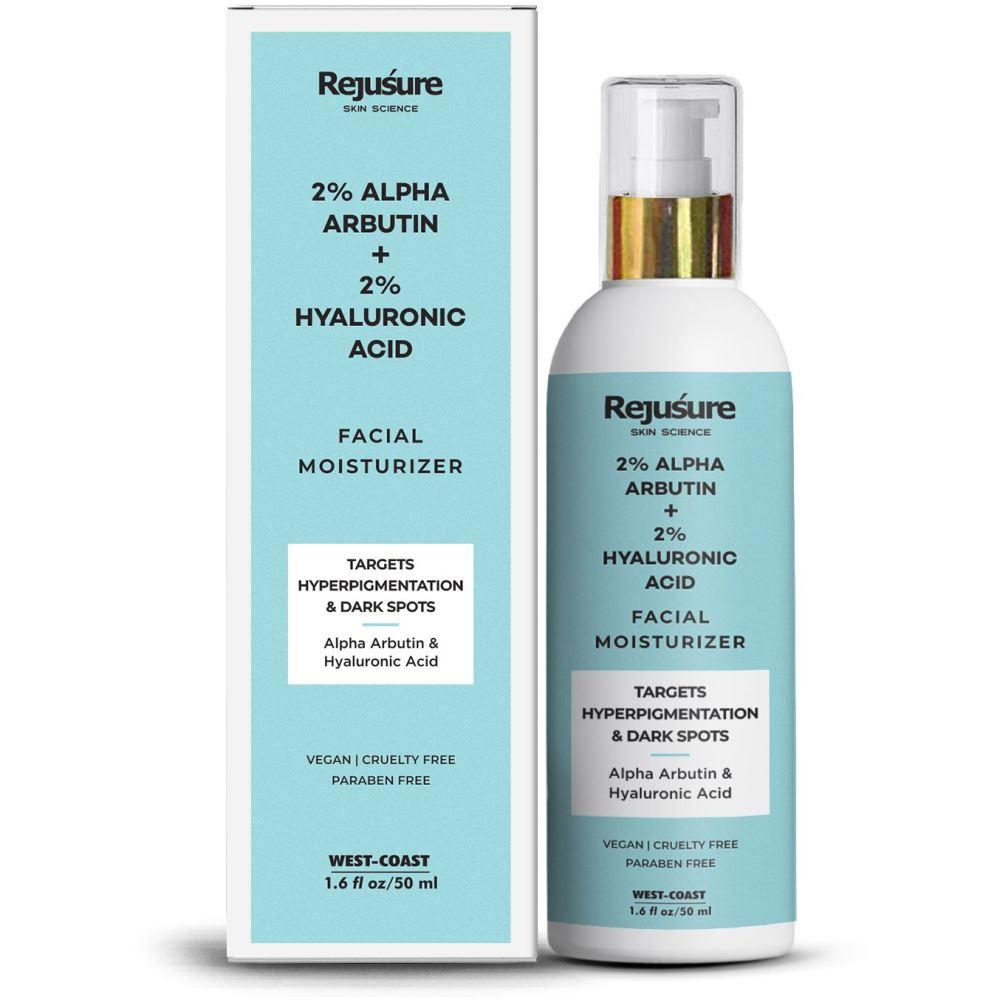 Rejusure Alpha Arbutin 2% + Hyaluronic Acid 2% Face Moisturizer (50ml)
