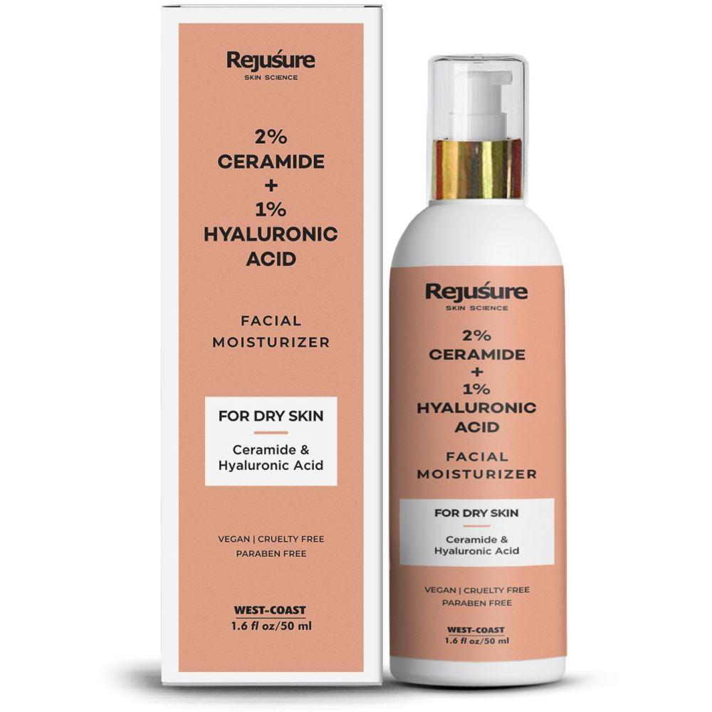 Rejusure Ceramide 2% + Hyaluronic Acid 1% Powerful Face Moisturizer (50ml)