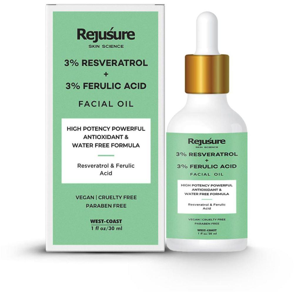 Rejusure 3% Resveratrol & 3% Ferulic Acid Facial Oil (30ml)