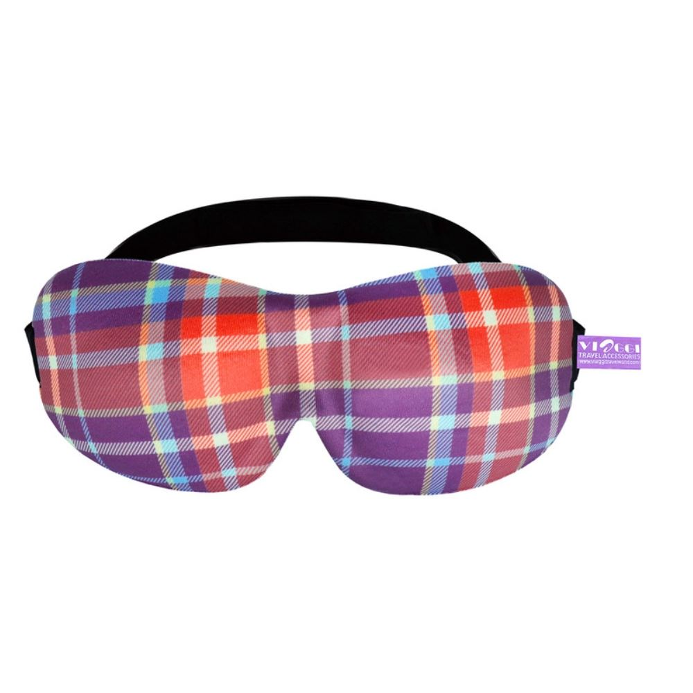 Viaggi 3D Printed Eye Mask, Blindfold Sleep Eye Mask (Red) (1pcs)