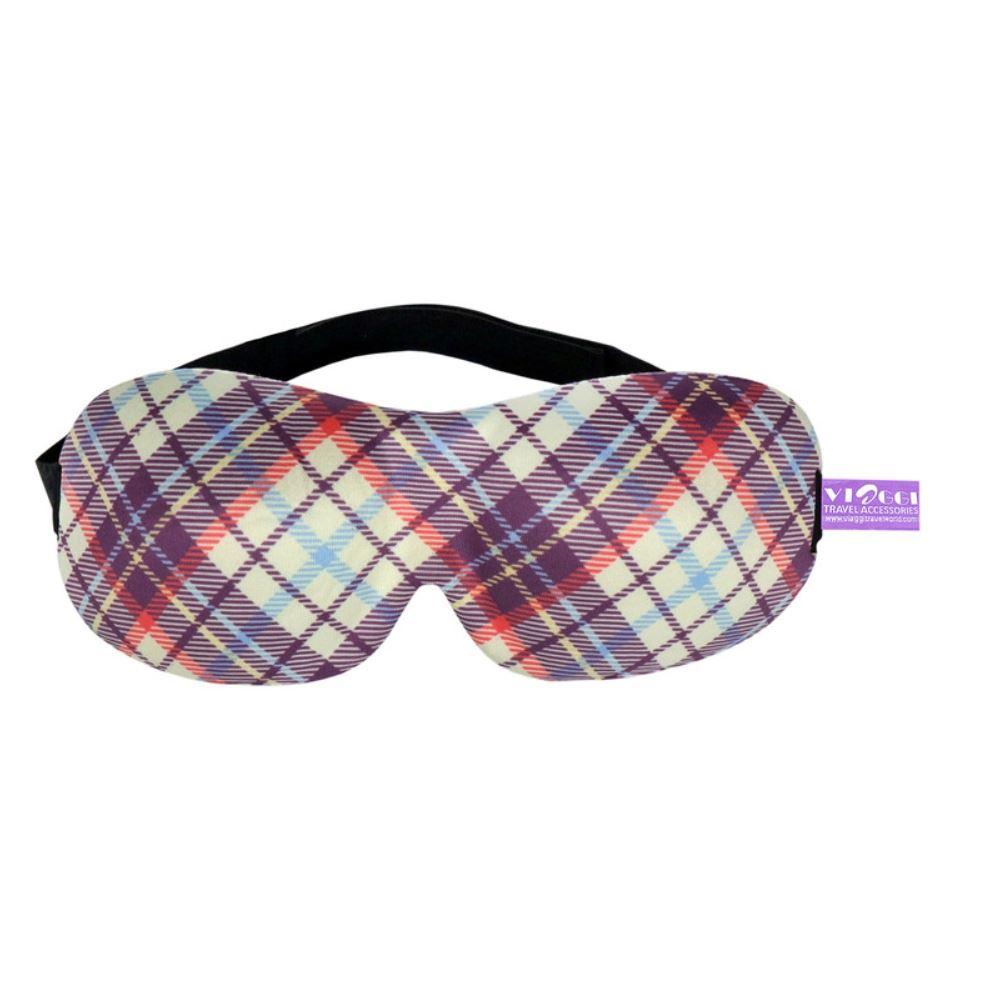 Viaggi 3D Printed Eye Mask, Blindfold Sleep Eye Mask (Purple) (1pcs)