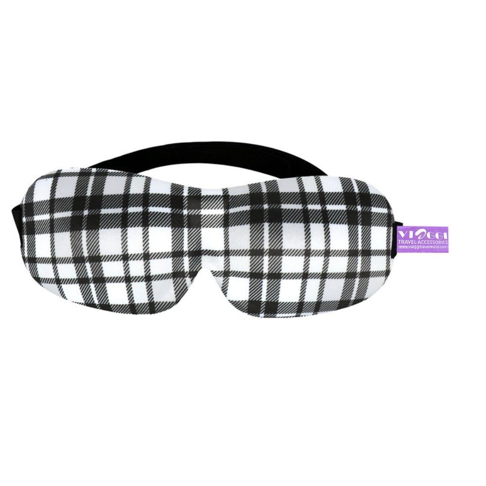 Viaggi 3D Printed Eye Mask, Blindfold Sleep Eye Mask (Black) (1pcs)