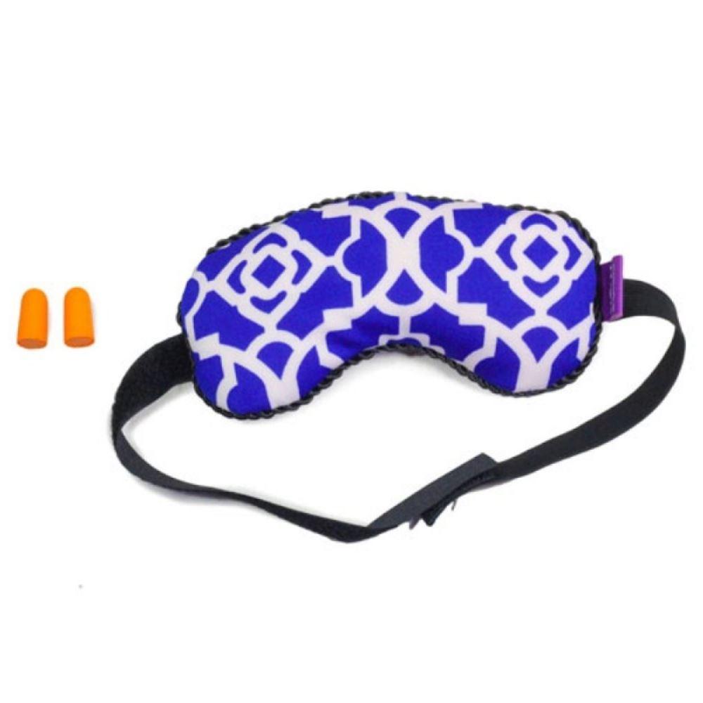 Viaggi Microbeads Blindfold Sleeping Eye Mask With Noise Reduction Ear Plugs (Blue) (1pcs)