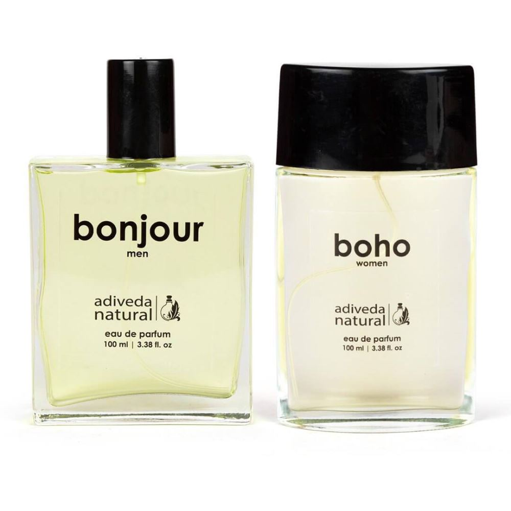 Adiveda Natural Bonjour & Boho For Men and Women Perfume Combo (1Pack)