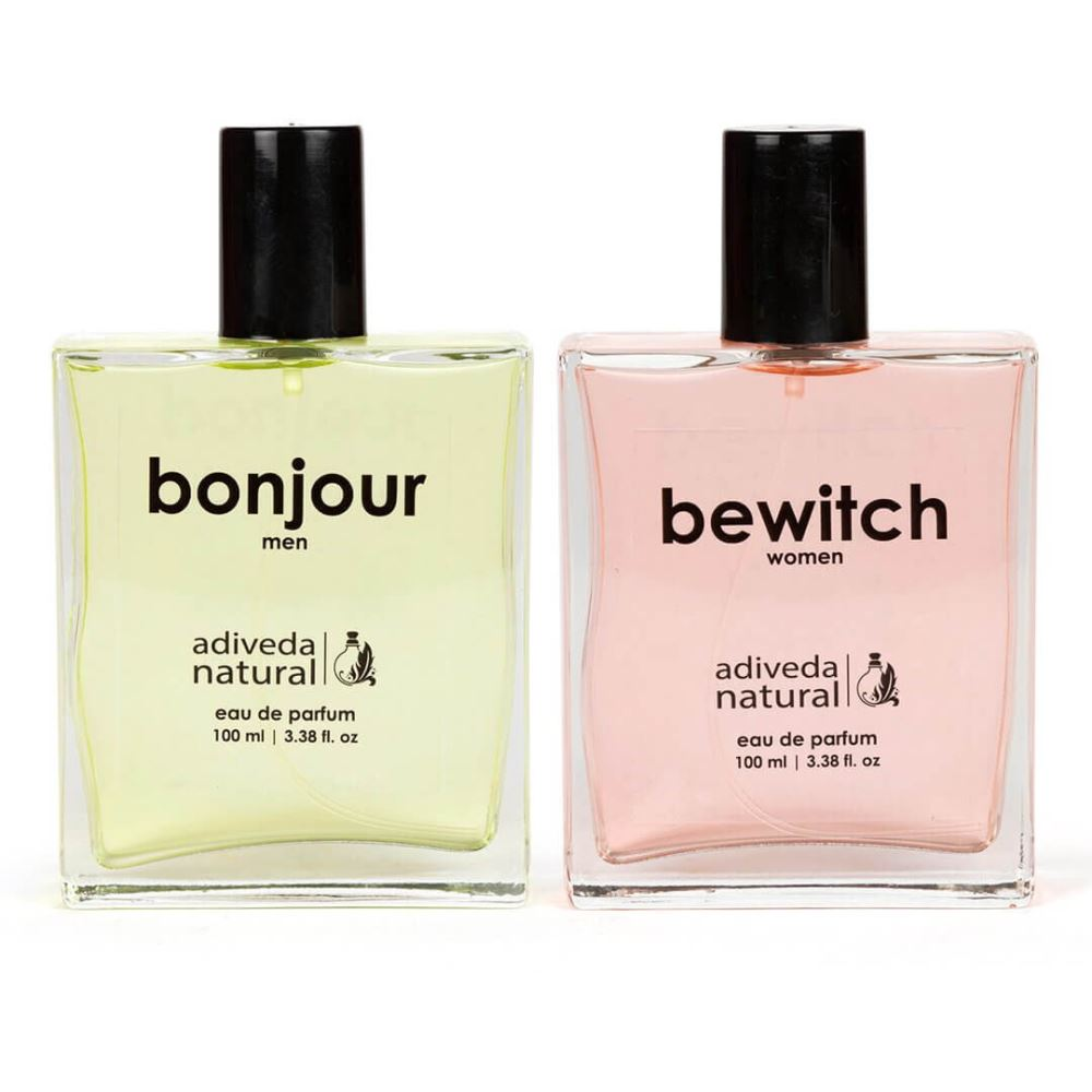 Adiveda Natural Bonjour and Bewitch For Men & Women Perfume Combo (1Pack)