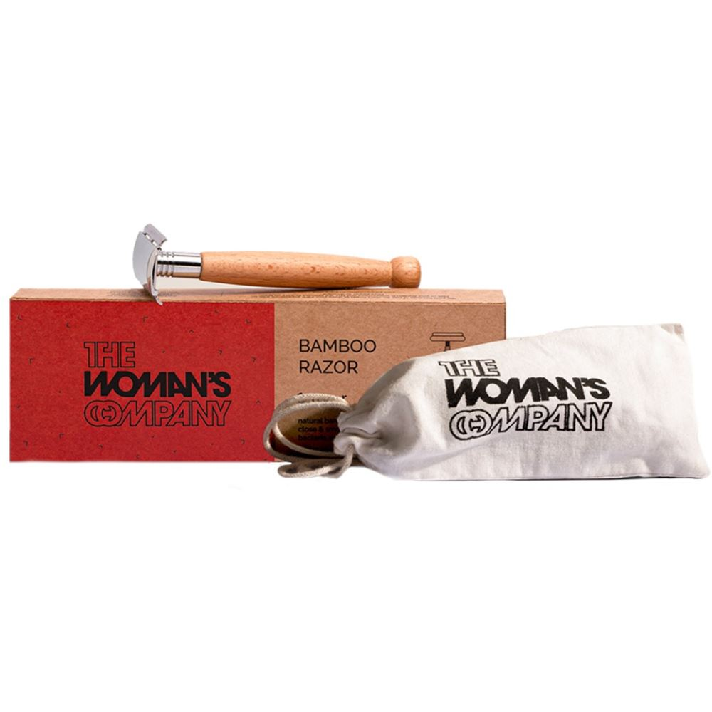 The Woman's Company Bamboo Razor With 10 Reusable Blades (1Pack)