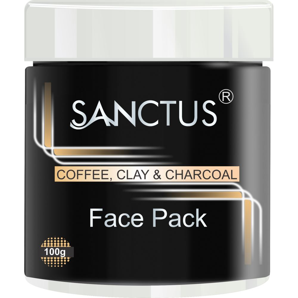 Sanctus Coffee, Clay And Charcoal Face Pack (100g)
