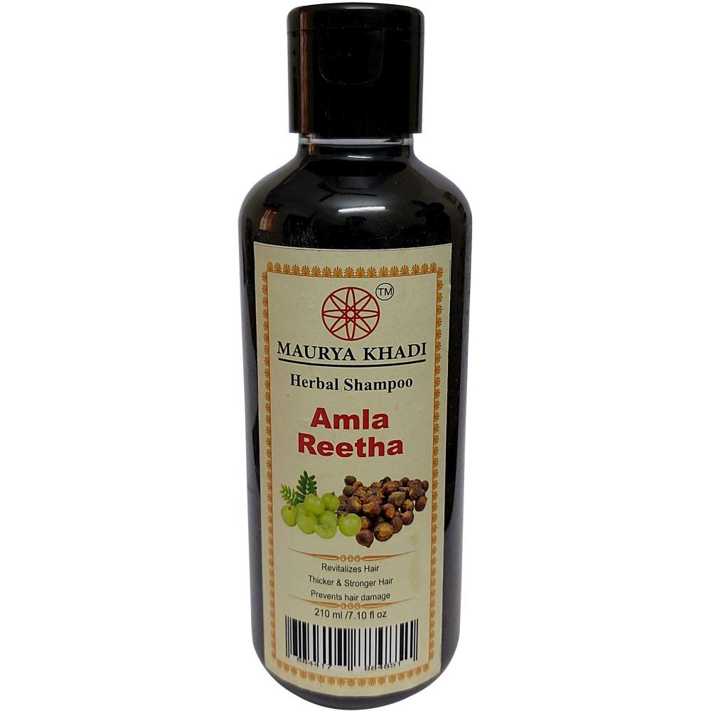 Maurya Khadi Herbal Amla Reetha Shampoo (210ml)