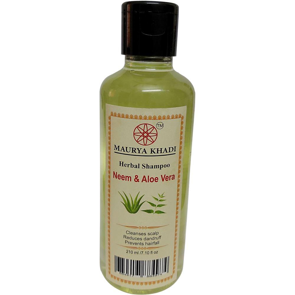 Maurya Khadi Herbal Neem & Aloe Vera Shampoo (210ml)