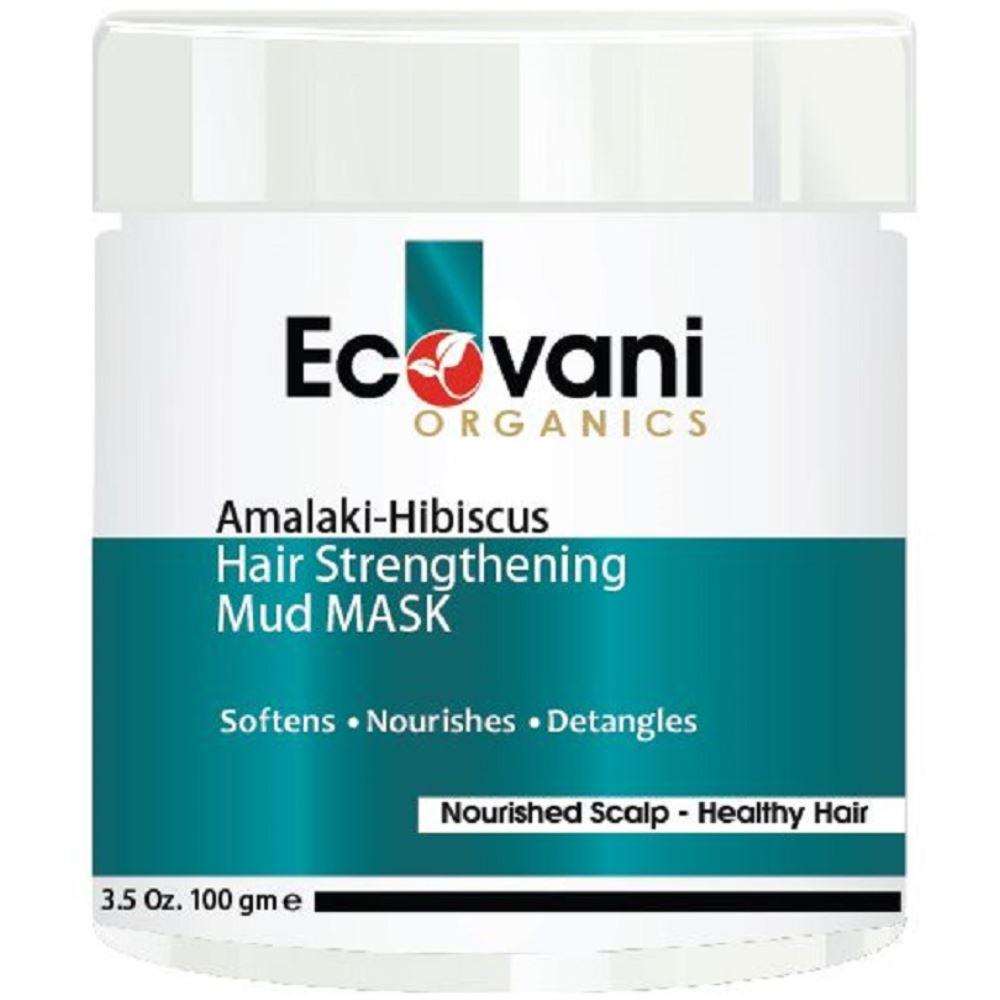 Ecovani Organics Amalaki Hibiscus Hair Strengthening Mud Mask (100g)