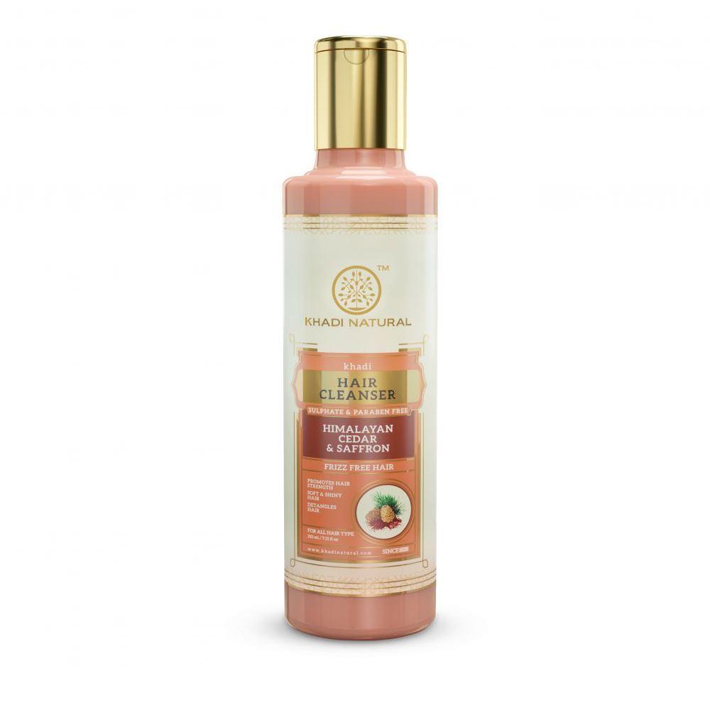 Khadi Natural Deodar(Cedarwood) Himalyan Cedar & Saffron Cleanser & Shampoo Sulphate Paraben Free (210ml)