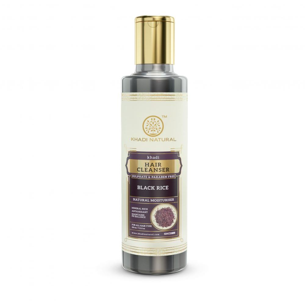 Khadi Natural Black Rice Cleanser & Shampoo Sulphate Paraben Free (210ml)
