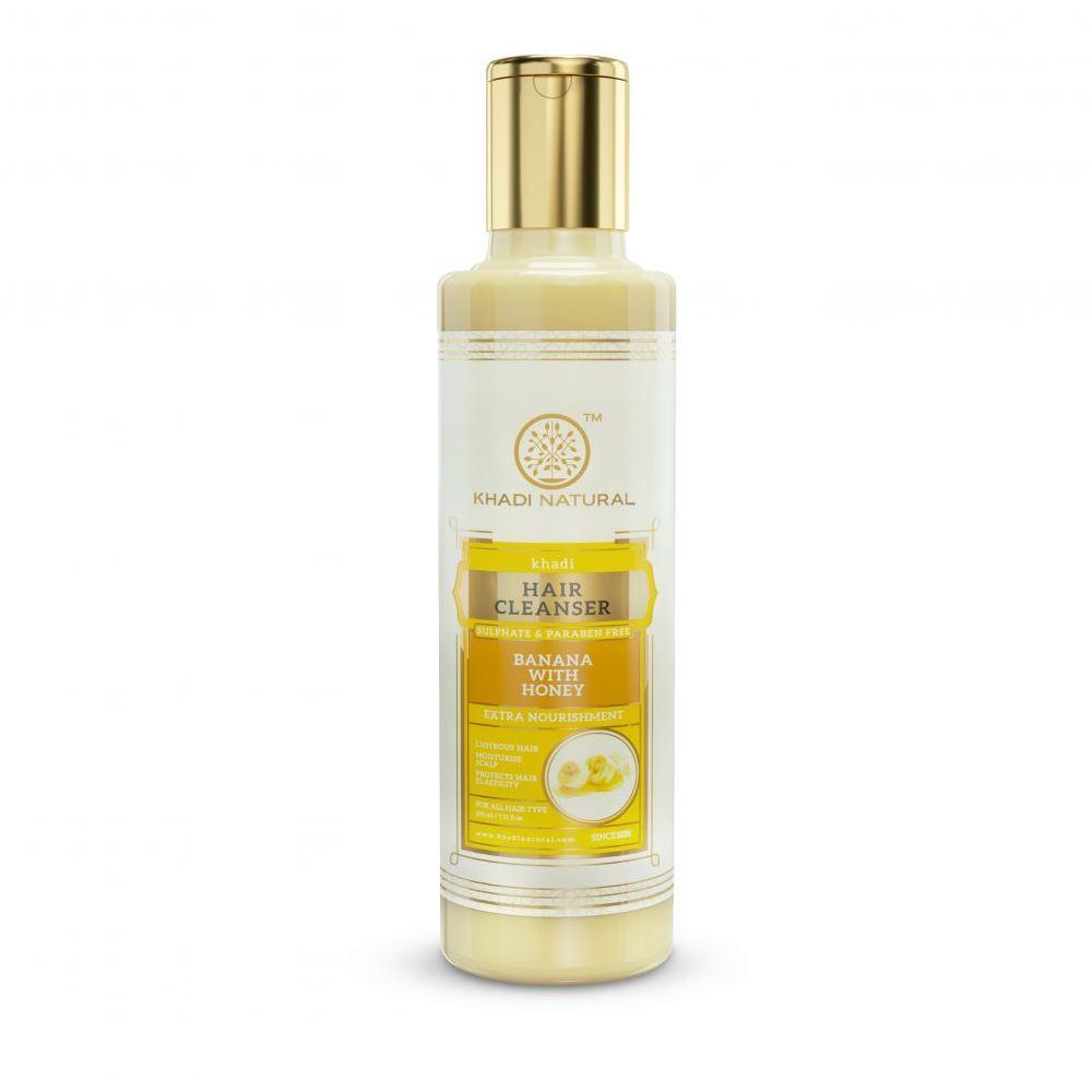 Khadi Natural Banana Cleanser & Shampoo With Honey Sulphate Paraben Free (210ml)