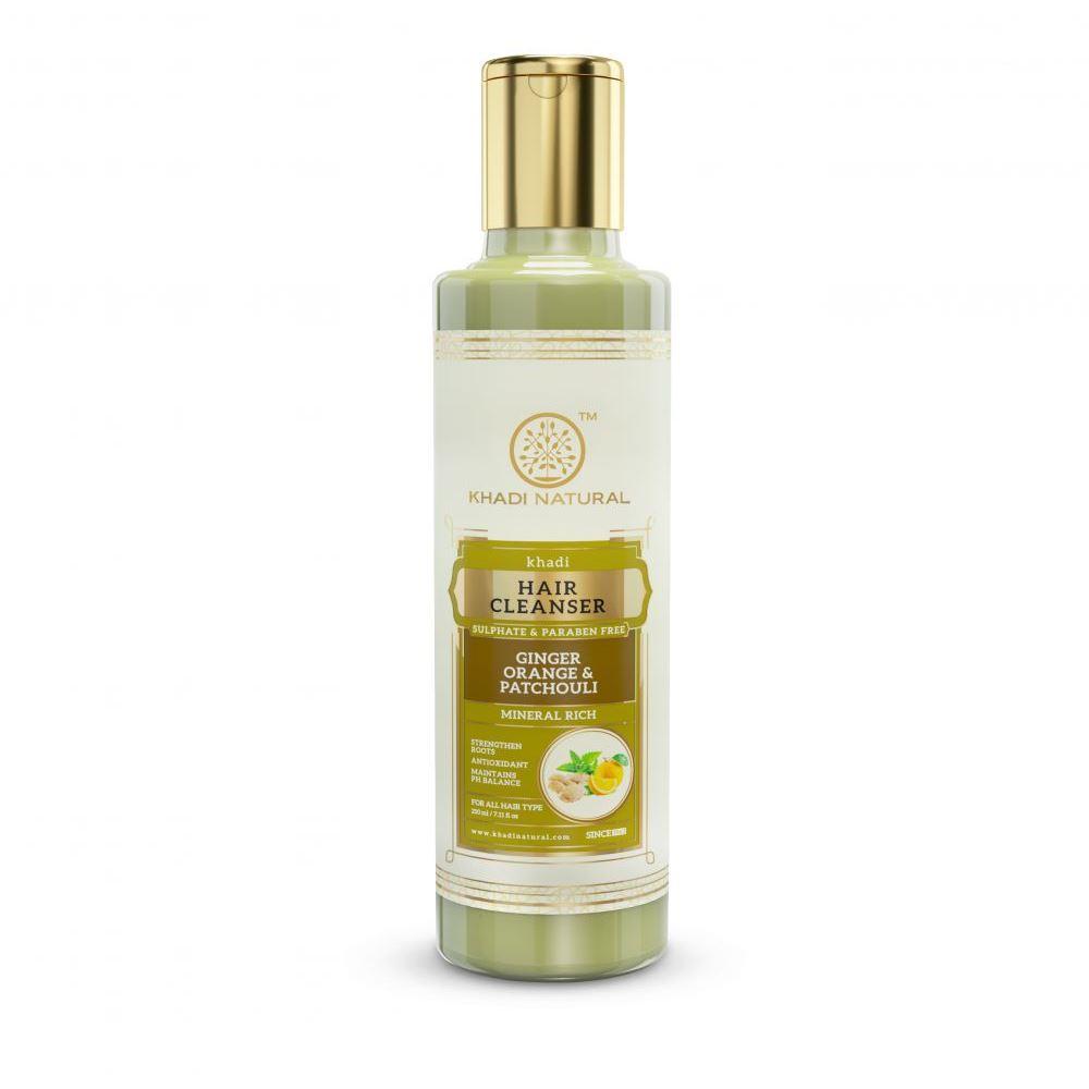 Khadi Natural Ginger Orange Patchouli Cleanser & Shampoo Sulphate Paraben Free (210ml)