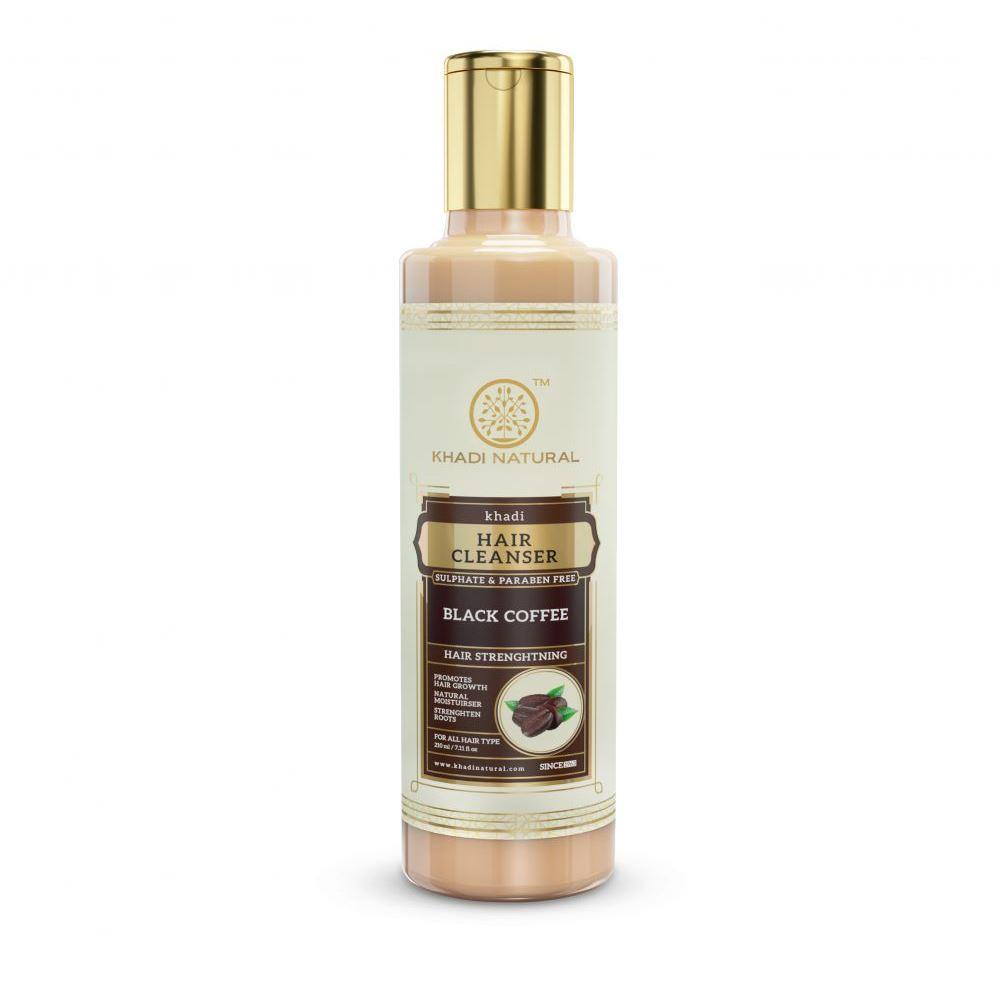 Khadi Natural Black Coffee Cleanser & Shampoo Sulphate Paraben Free (210ml)