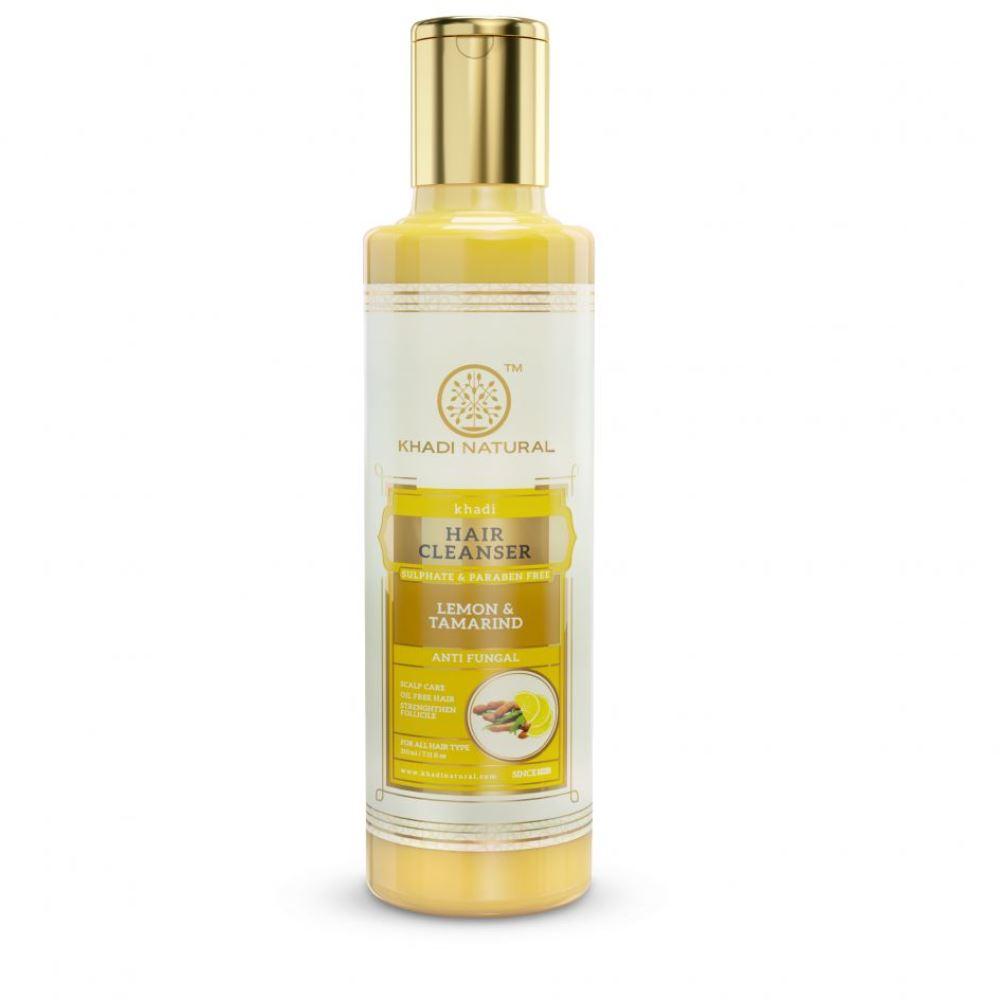 Khadi Natural Lemon & Tamarind Cleanser & Shampoo Sulphate Paraben Free (210ml)