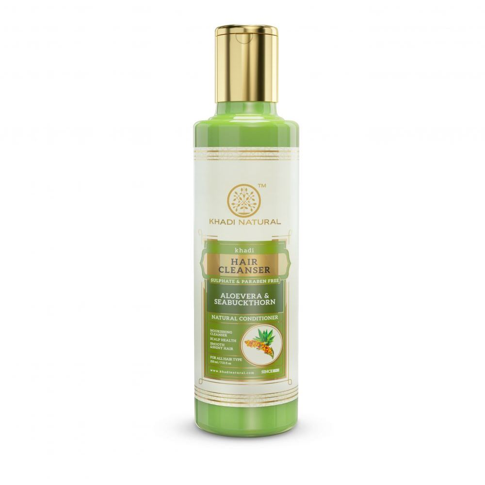 Khadi Natural Aloevera Seabuckthorn Cleanser & Shampoo Sulphate Paraben Free (210ml)