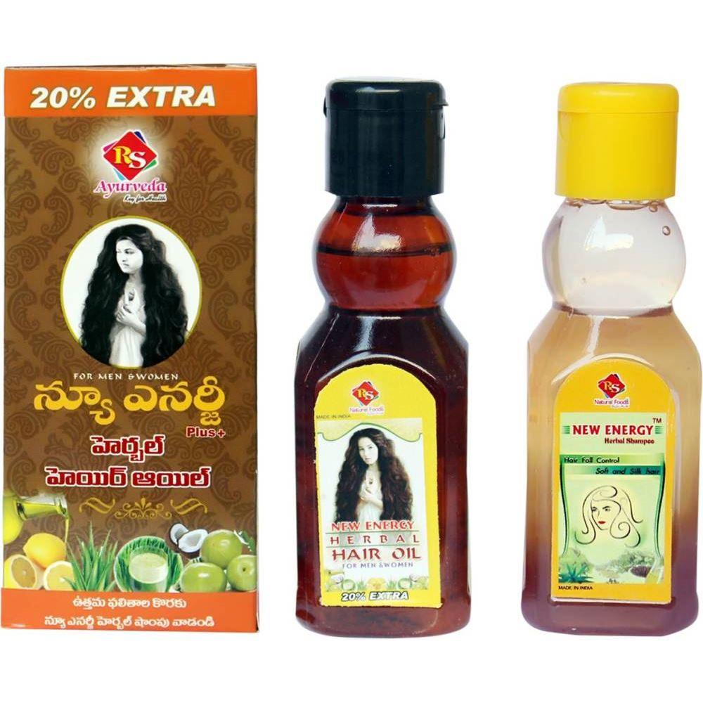 RS Natural Foods Anti Hairfall Herbal Oil & Shampoo Combo (1Pack)