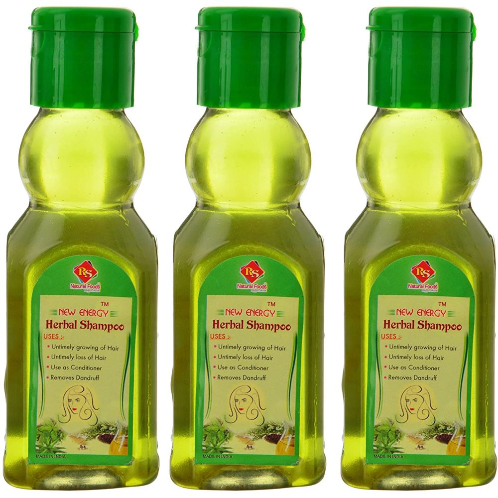 RS Natural Foods Herbal Shampoo (120ml, Pack of 3)