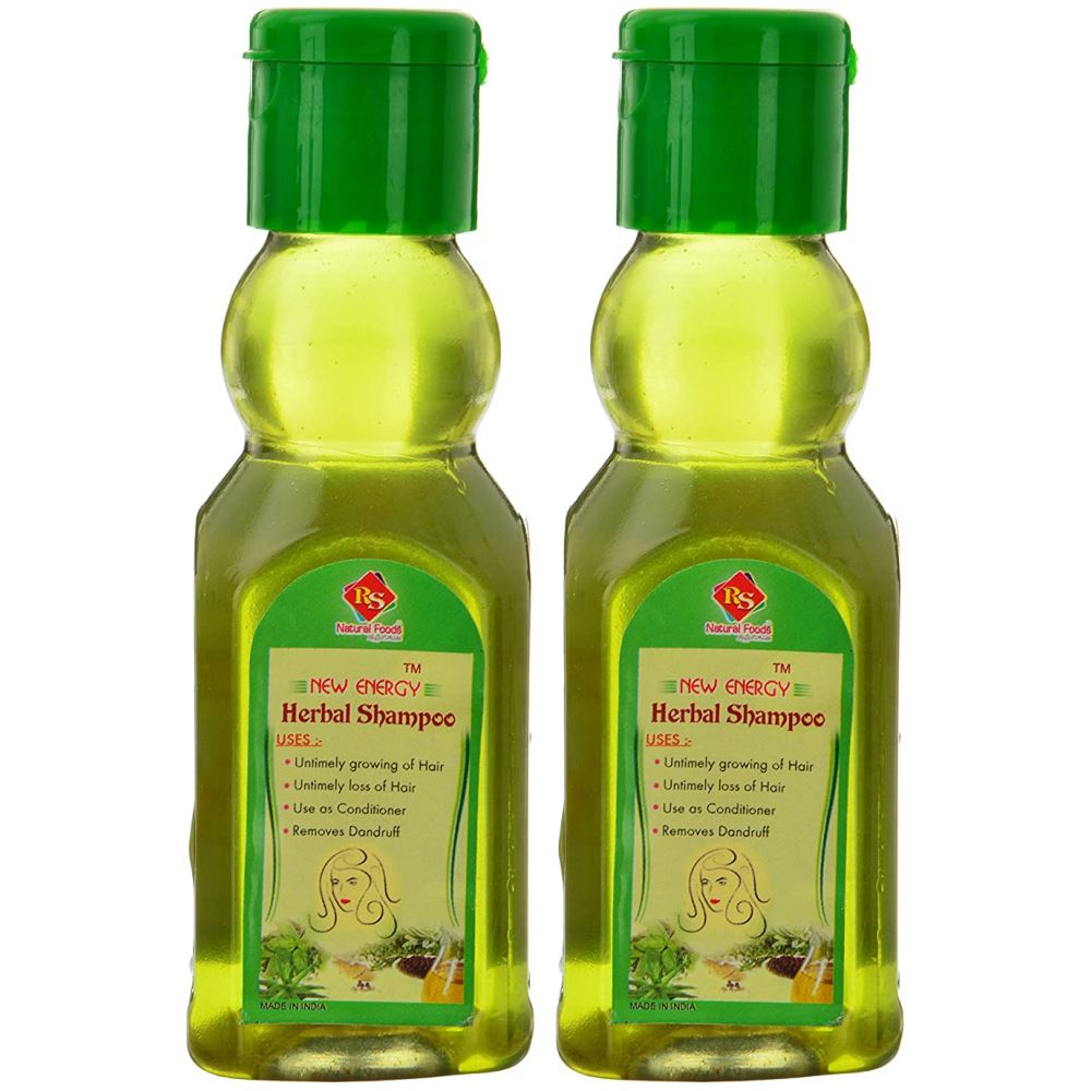 RS Natural Foods Herbal Shampoo (120ml, Pack of 2)