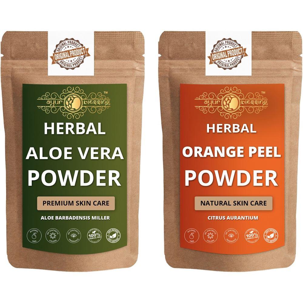 Ayur Blessing Aloe Vera Leaf and Orange Peel Powder Combo Pack (1Pack)