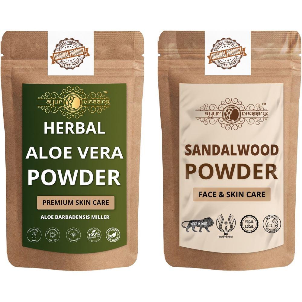 Ayur Blessing Aloe Vera Leaf and Chandan Powder Combo Pack (1Pack)
