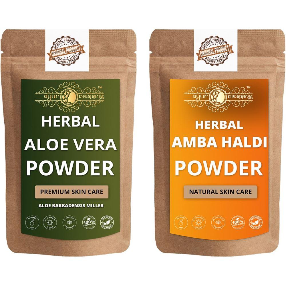 Ayur Blessing Aloe Vera Leaf and Amba Haldi Powder Combo Pack (1Pack)