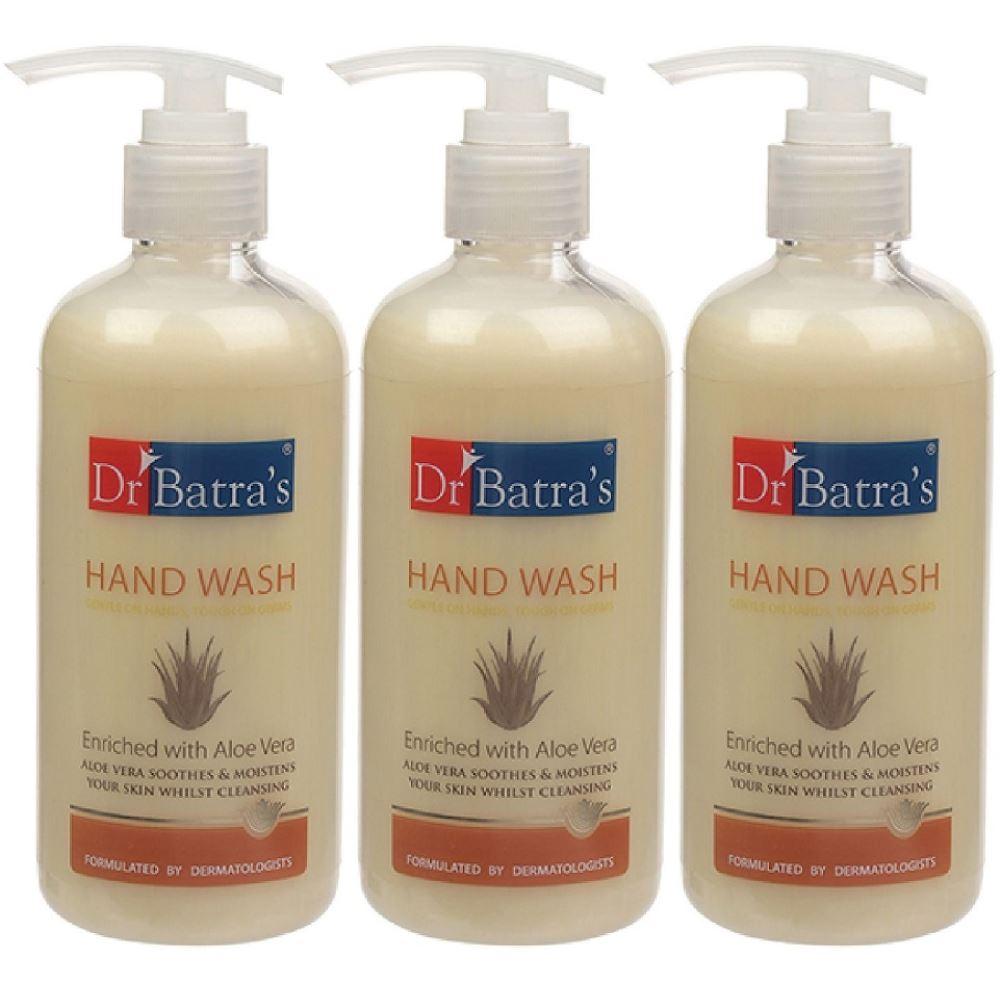 Dr Batras Aloevera Hand Wash (300ml, Pack of 3)
