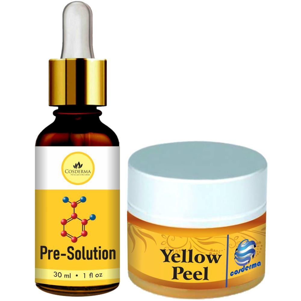 Cosderma Pre solution & Yellow Peel Combo (1Pack)
