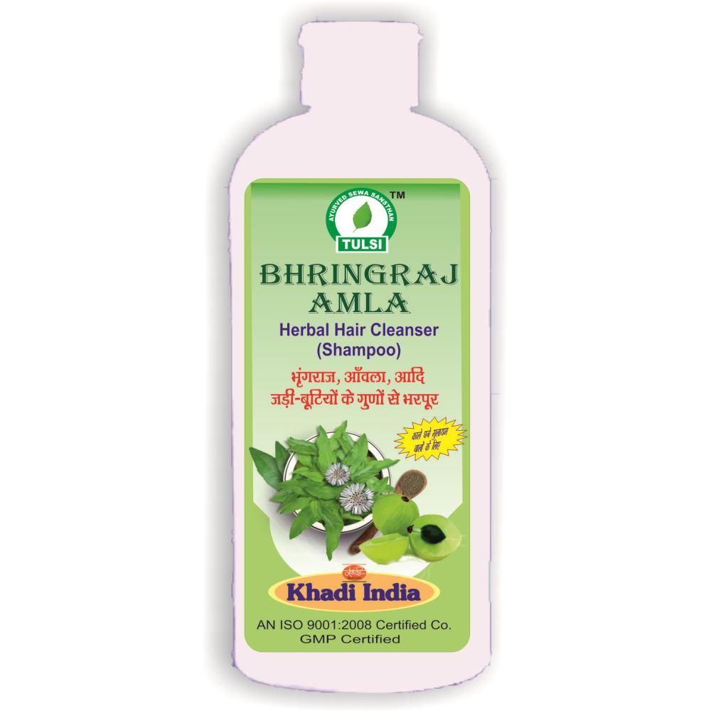Tulsi Bhringraj Amla Herbal Hair Cleanser Shampoo (500ml)