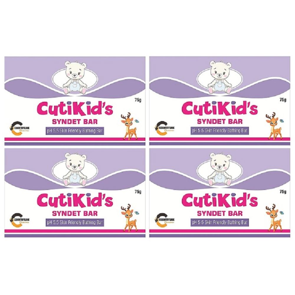 Cutikid'S Syndet Bathing Bar (75g, Pack of 4)