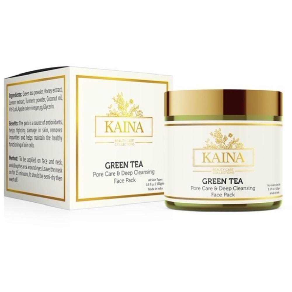 Kaina Skincare Green Tea- Pore Care & Deep Cleansing Face Pack (100g)