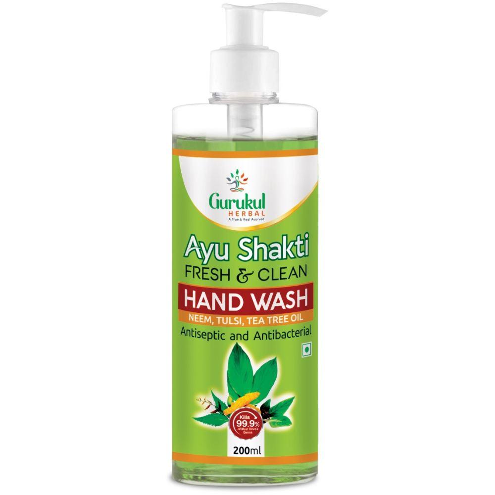Gurukul Herbal Ayu Shakti Fresh And Clean Handwash (200ml)