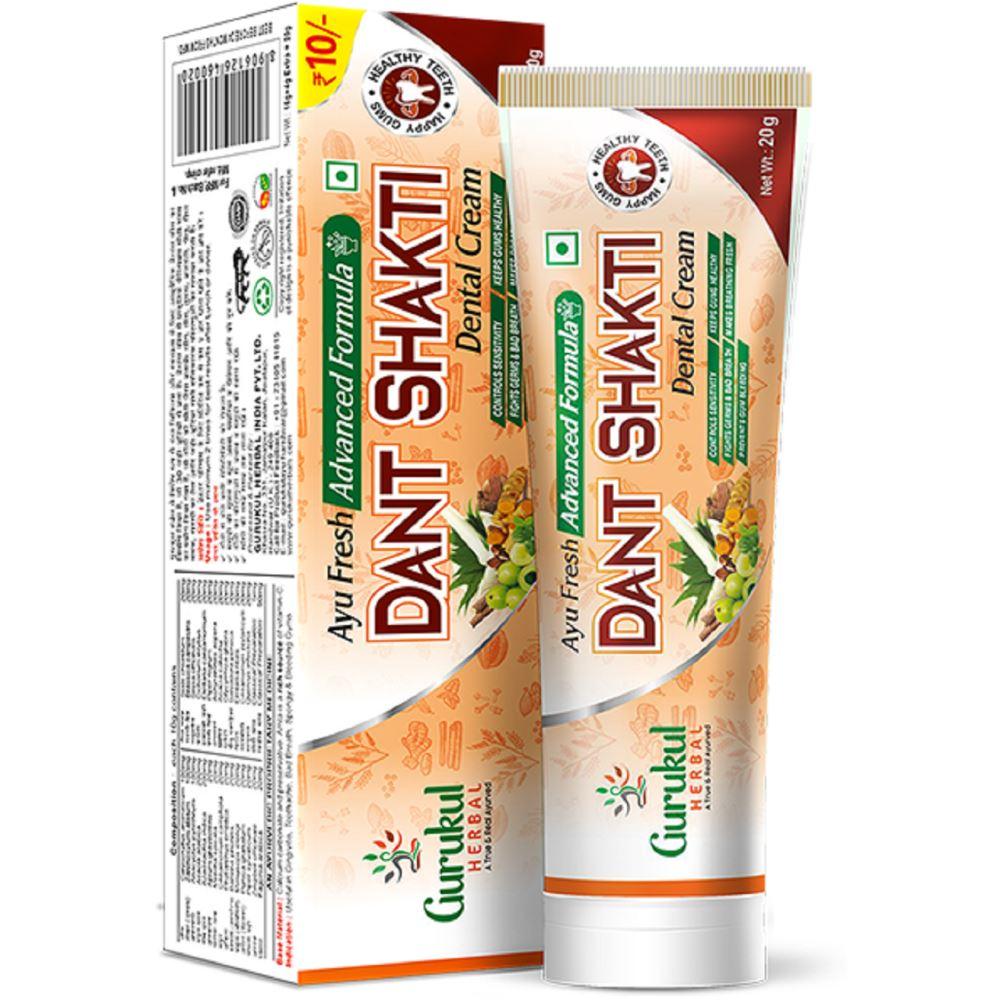 Gurukul Herbal Ayu Fresh Advanced Formula Dant Shakti Dental Cream (20g)