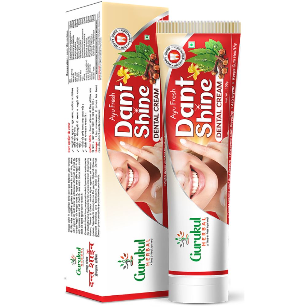 Gurukul Herbal Ayu Fresh Dant Shine Dental Cream (100g)
