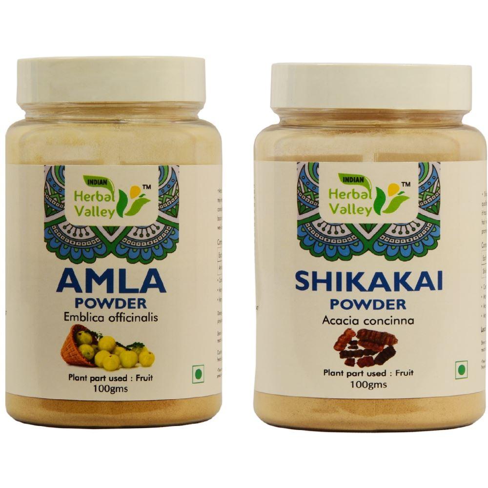 Indian Herbal Valley Amla & Shikakai Powder Combo (1Pack)
