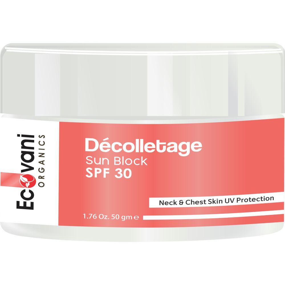 Ecovani Organics Décolletage Sun Block Spf 30 Cream (50g)