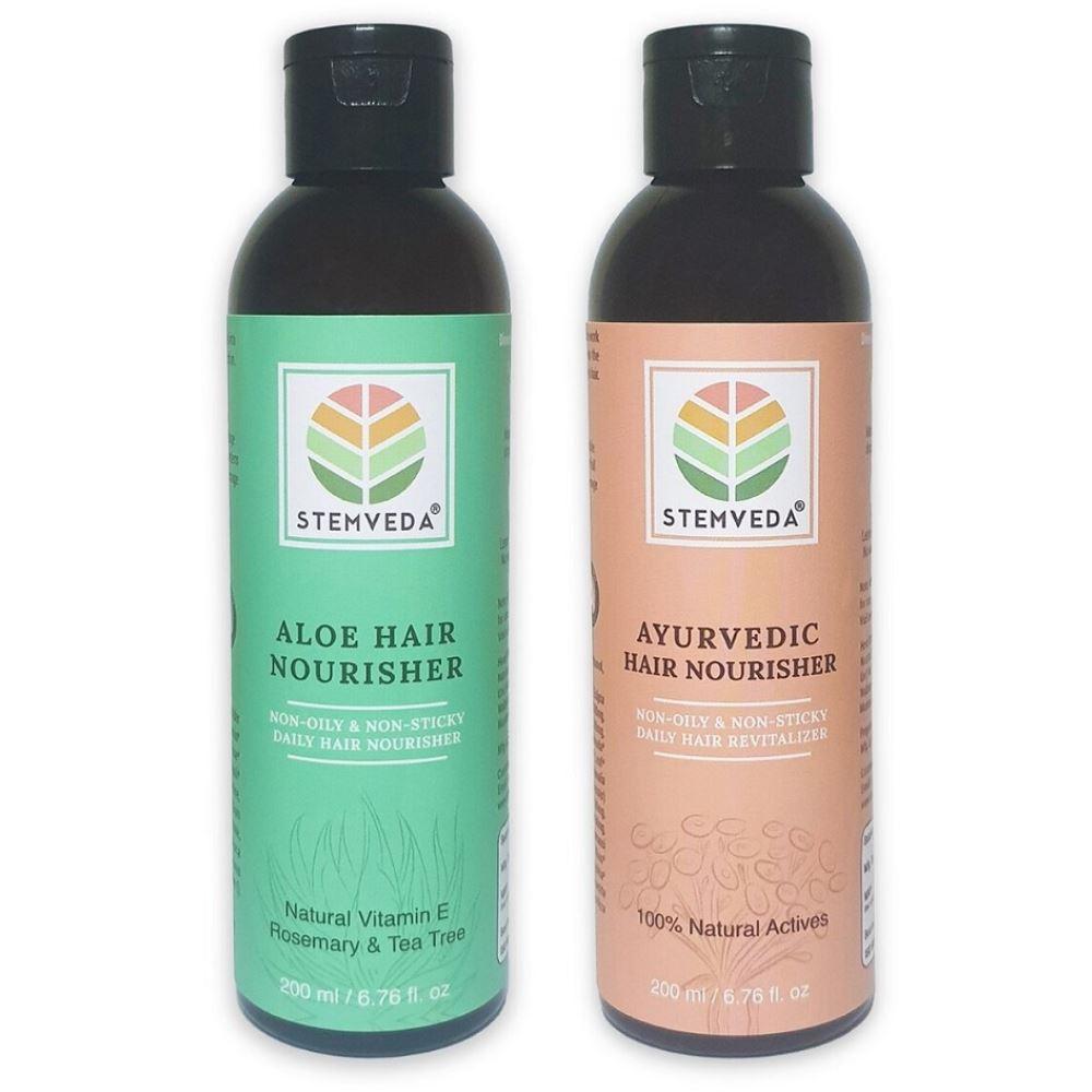 Stemveda Aloe & Ayurvedic Hair Nourisher Combo (1Pack)