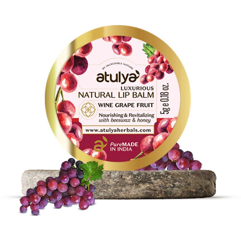 Atulya Wine Grape Fruit Lipbalm (5g)