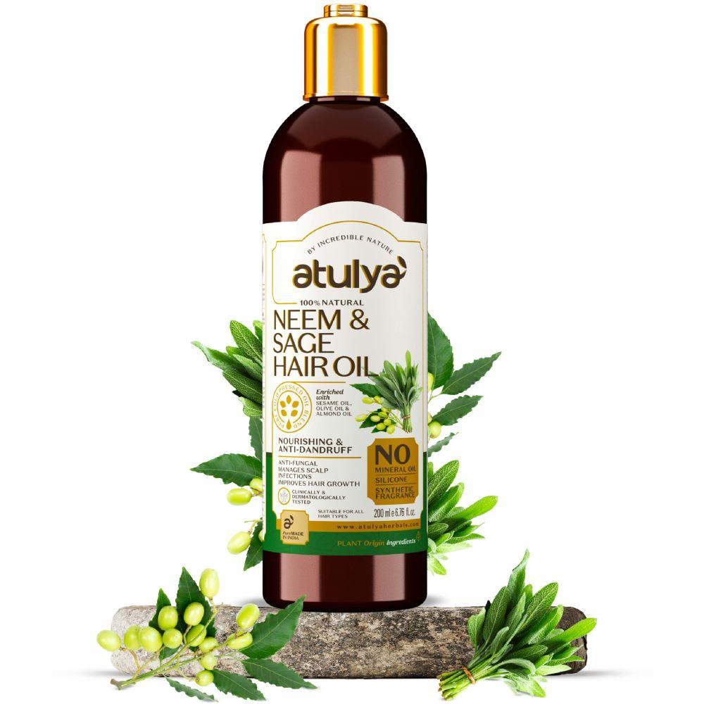 Atulya Neem & Sage Hair Oil (200ml)