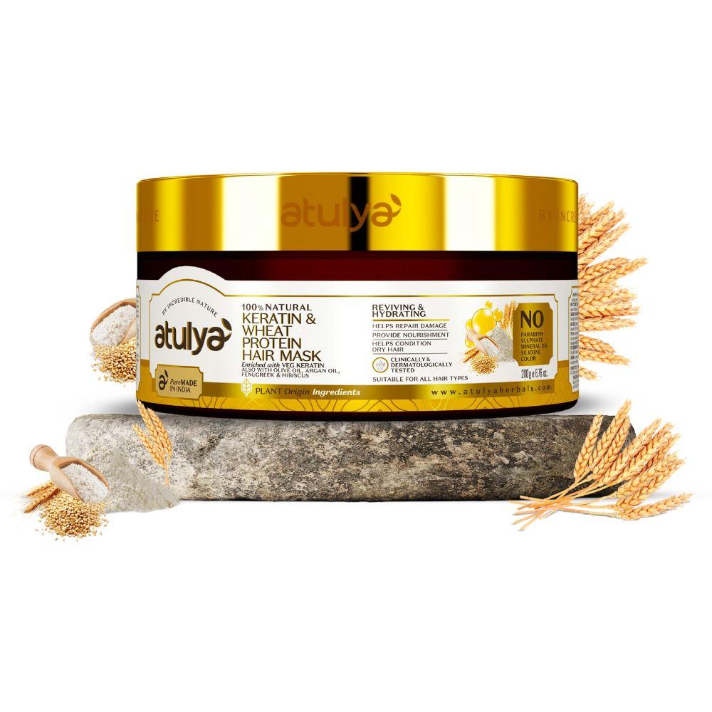 Atulya Keratin & Wheat Protein Hair Mask (200g)
