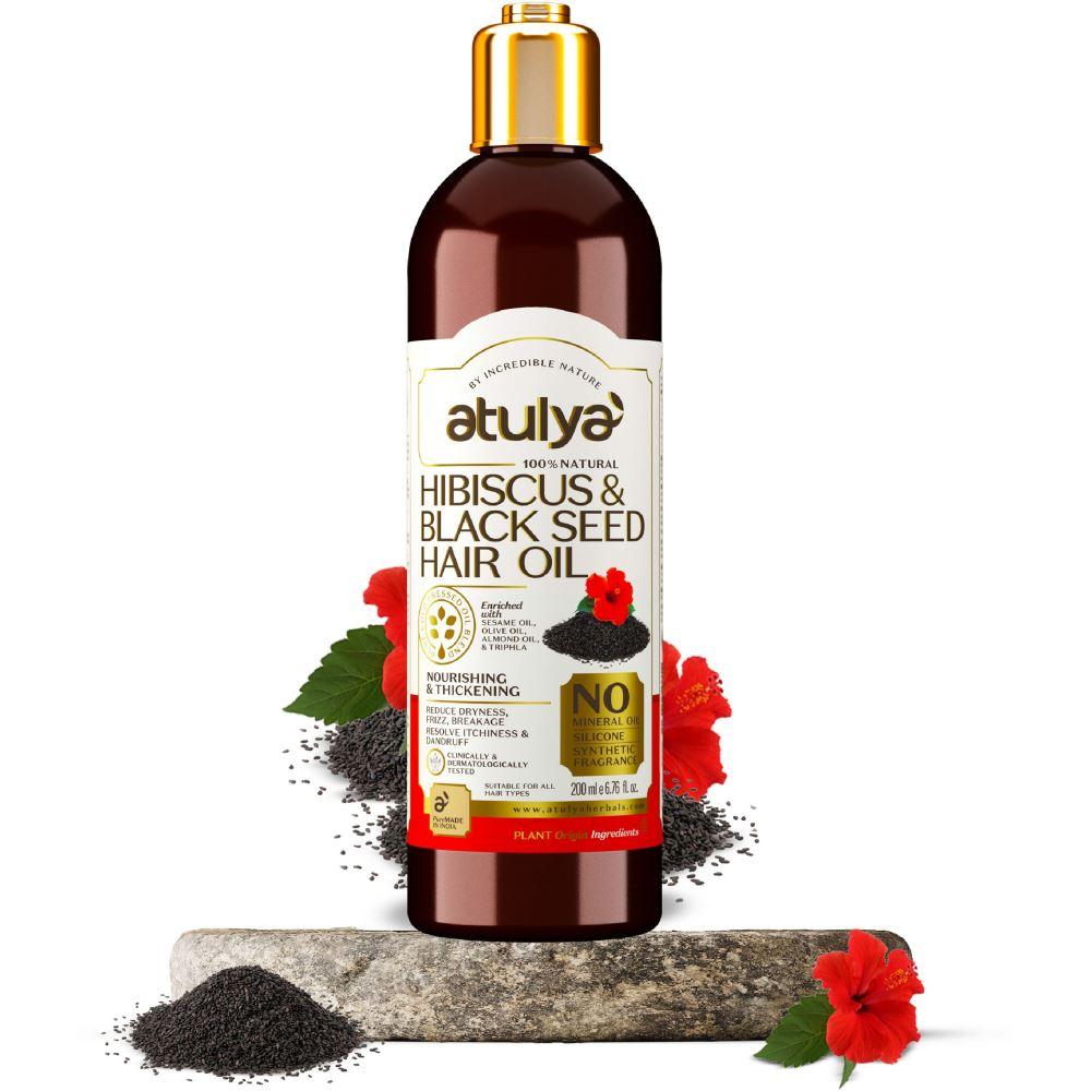 Atulya Hibiscus & Black Seed Hair Oil (200ml)