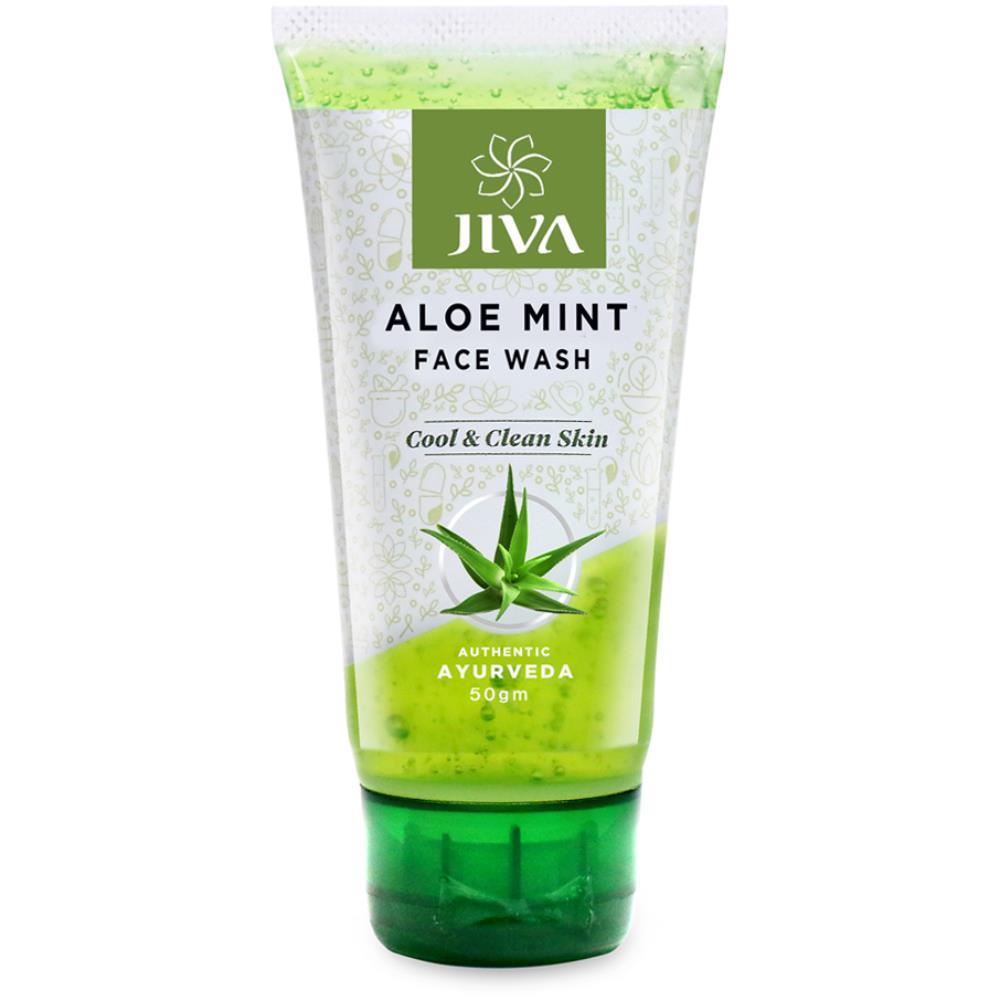 Jiva Ayurveda Aloe vera Mint Face Wash (50g)