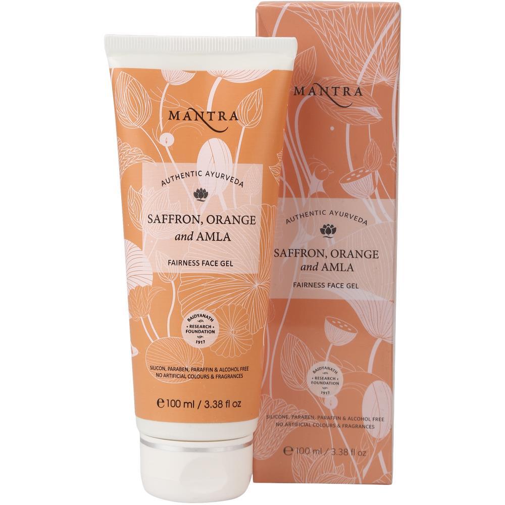 Mantra Herbal Saffron, Orange And Amla Fairness Face Gel (100ml)