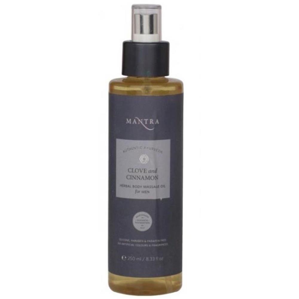 Mantra Herbal Clove And Cinnamon Herbal Body Massage Oil - For Men (250ml)
