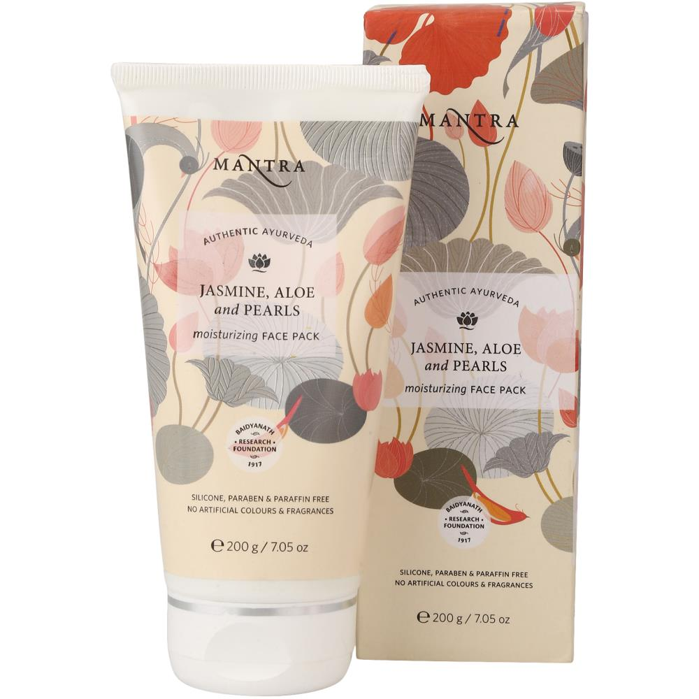 Mantra Herbal Jasmine Aloe & Pearl Moisturizing Face Pack (200g)
