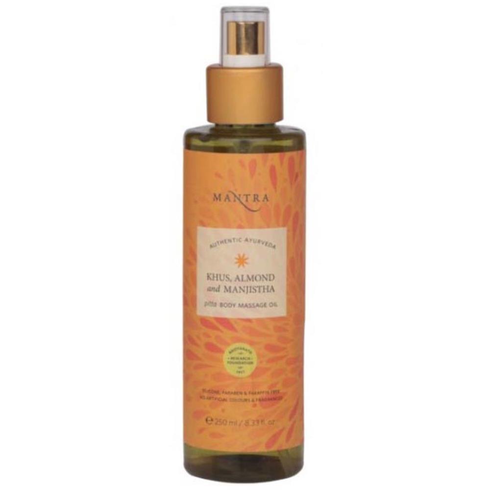 Mantra Herbal Khus, Almond And Manjistha Pitta Body Massage Oil (250ml)