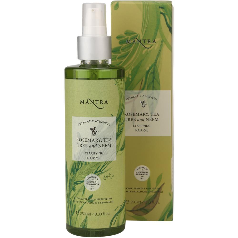 Mantra Herbal Rosemary, Teatree And Neem Dandruff Removing Hair Oil (250ml)
