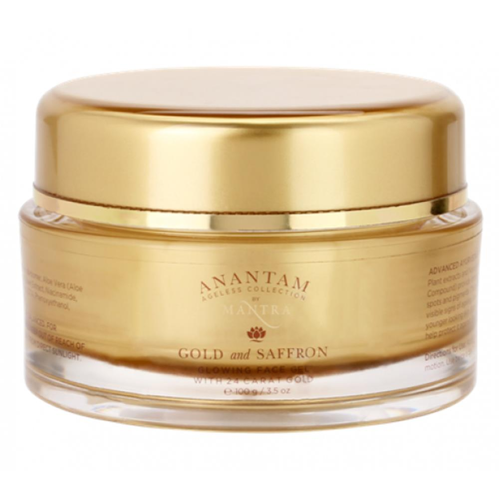 Mantra Herbal Ananatam Gold & Saffron Glowing Face Gel With 24 K Gold (100g)